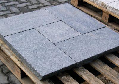 Granit Nero Leccero Pflasterplatten
